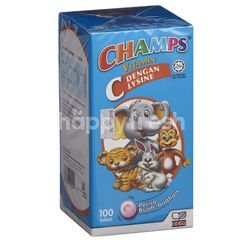 Champs Champs Vitamin C Lysine 100s - Fruity