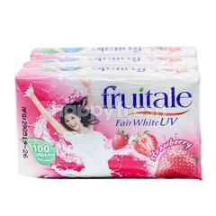 FRUITALE Strawberry Scent Soap Bar (3 Bar)