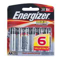 Energizer Max AA Alkaline Batteries (6 pieces)