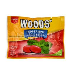 Woods' Strong Peppermint Lozenges Cherry