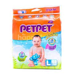 PETPET Baby Diapers Size L (64 Pieces)