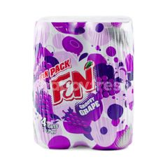 F&N Fun Pack Groovy Grape Sparkling Flavoured Drink (4 Cans)