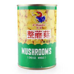 J HAWKS Mushrooms Choice Whole