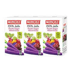Marigold Uht 100% Purple Veggie Mixed Fruits Juice Drink (3X200Ml)