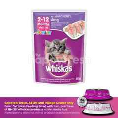Whiskas Pouch Cat Wet Food Junior Mackerel 85G Cat Food