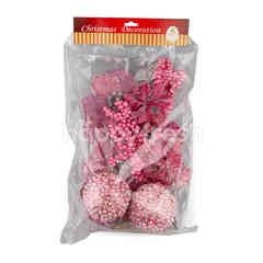 New Year Decoration Decorate Flower Set Pink Colour