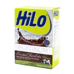 HiLo Platinum Susu Bubuk Tinggi Kalsium Kurang Lemak Rasa Cokelat Swiss