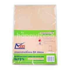 Seethong 555 BA Brwon Kraft Open End Envelope 9 X 12 3/4 10 Pcs.