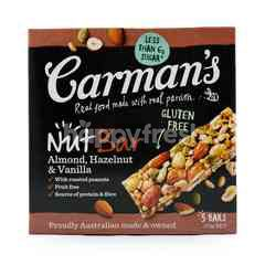 Carman's Sereal Kacang Almond, Hazelnut, dan Vanila Bar