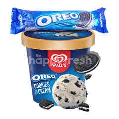Wall's Selection Cookie & Cream Oreo Biscuit and Kraft Vanilla Cream Oreo Package