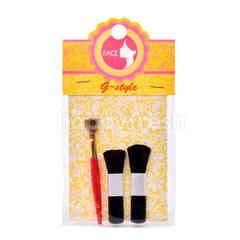 Giant Face G-Style Make Up Brush Set