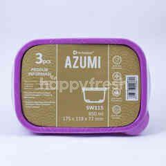 Technoplast Azumi Kotak Makan 850ml 175x118x77mm