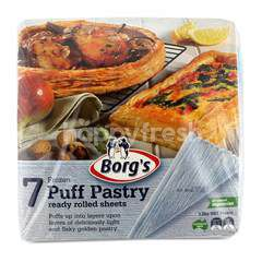 Borg's 7 Frozen Puff Pastry Sheets (7 Sheets)