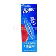 Ziploc 20 Bags Freezer Quart