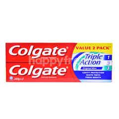 Colgate Triple Action Original Mint Toothpaste (2 Pieces)