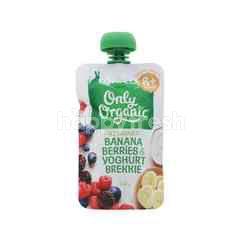 Only Organic Banana Berries & Yogurt (120g)