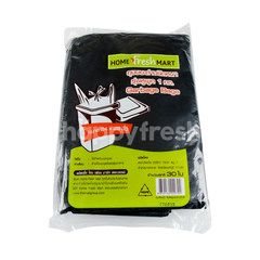 โฮม เฟรช มาร์ท ถุงขยะดำชนิดหนามีหูผูก 24 X 28 นิ้ว