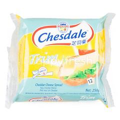 Chesdale Trim Cheddar Cheese Slices Spread