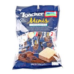Loacker Crispy Wafers Filled Cocoa And Chocolate Cream Flavour 10 g X 20 Pcs.