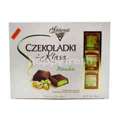 Solidarnosc Alcoholized Pistachio Flavoured Milk Chocolates