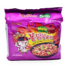 Samyang Mala Hot Chicken Flavor Ramen Stir Noodle (5 Packs)