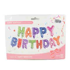 Ceria Happy Birthday Letter Air Filled Balloon (13 Pieces)