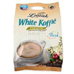 Luwak White Coffee Powder Premium Less Sugar
