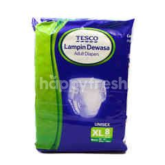 Tesco Adult Diapers (XL) Unisex