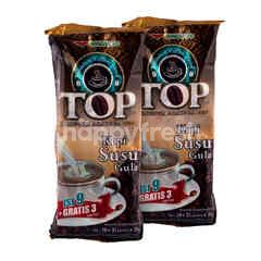 TOP Coffee Robusta Arabica Instan Dengan Gula (12 Saset)