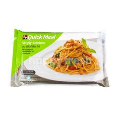 S&P Spicy Spaghetti With Chicken And Sweet Basil