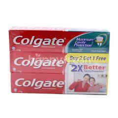 Colgate Maximum Cavity Protection Fresh Cool Mint Toothpaste (3 Packet)