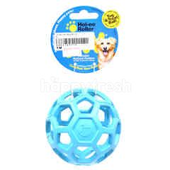 JW Durable Natural Rubber Hol-Ee Roller Tug & Treat Ball Dog Toys