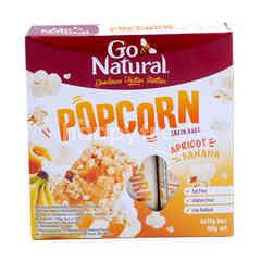 GO NATURAL Popcorn Snack Bar Apricot Banana Flavor