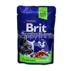 BRIT Premium Cat Pouches With Chicken Slices For Sterlised
