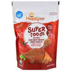 Happybaby Superfoods Puffed Ancient Grain Dino Snack