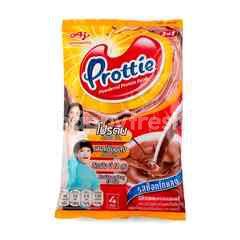 พรอตตี้ เครื่องดื่มโปรตีนจากนมและถั่วเหลืองปรุงสำเร็จชนิดผง รสช็อกโกแลต 25 กรัม X 4 ซอง