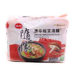 Spicy Mushroom Instant Noodles For Vegetarian