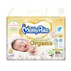 Mamy Poko Extra Dry Skin Organic Cotton Newborn Tape 84 Pcs