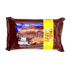 Mc Vitie's Digestive Milk Chocolate Biscuits (Twin Pack)