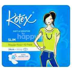 Kotex Soft & Smooth Slim 24cm Wing
