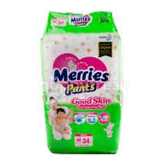 Merries Pants Baby Diapers Good Skin M 34 Pcs