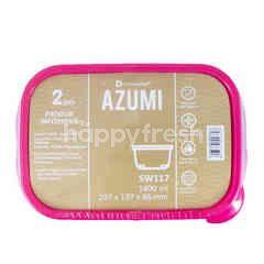 Technoplast Azumi Kotak Makan 1400ml SW117 207x137x86mm