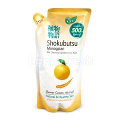 โชกุบุสซึ โมโนกาตาริ ครีมอาบน้ำ ออเร้นท์ พีล ออย ชนิดเติม