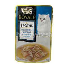 Purina Fancy Feast Royale Broths Tuna, Surimi & Whitebait