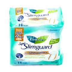 Laurier Super Slimguard Day with Safety Gathers dengan Sayap 22,5cm