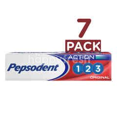 Pepsodent Action 123 Toothpaste 7 Pack