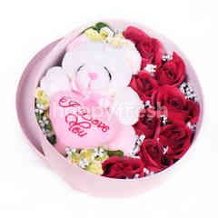 Citra Florist Artificial Flowerbox Sleeping Round Pink