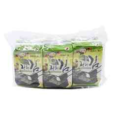 KINMORI Olive Seasoned Seaweed (9 Packets)