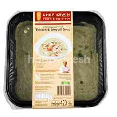 Chef Erwin Spinach and Broccoli Soup