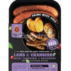 Victoria Crest Lamb & Cranberry Sausages (8 Pieces)